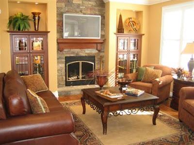 El color de las paredes con muebles de wengue