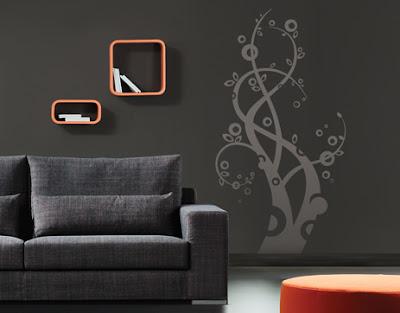 Entre colores de paredes y vinilos decorativos for Paredes decoradas con pintura