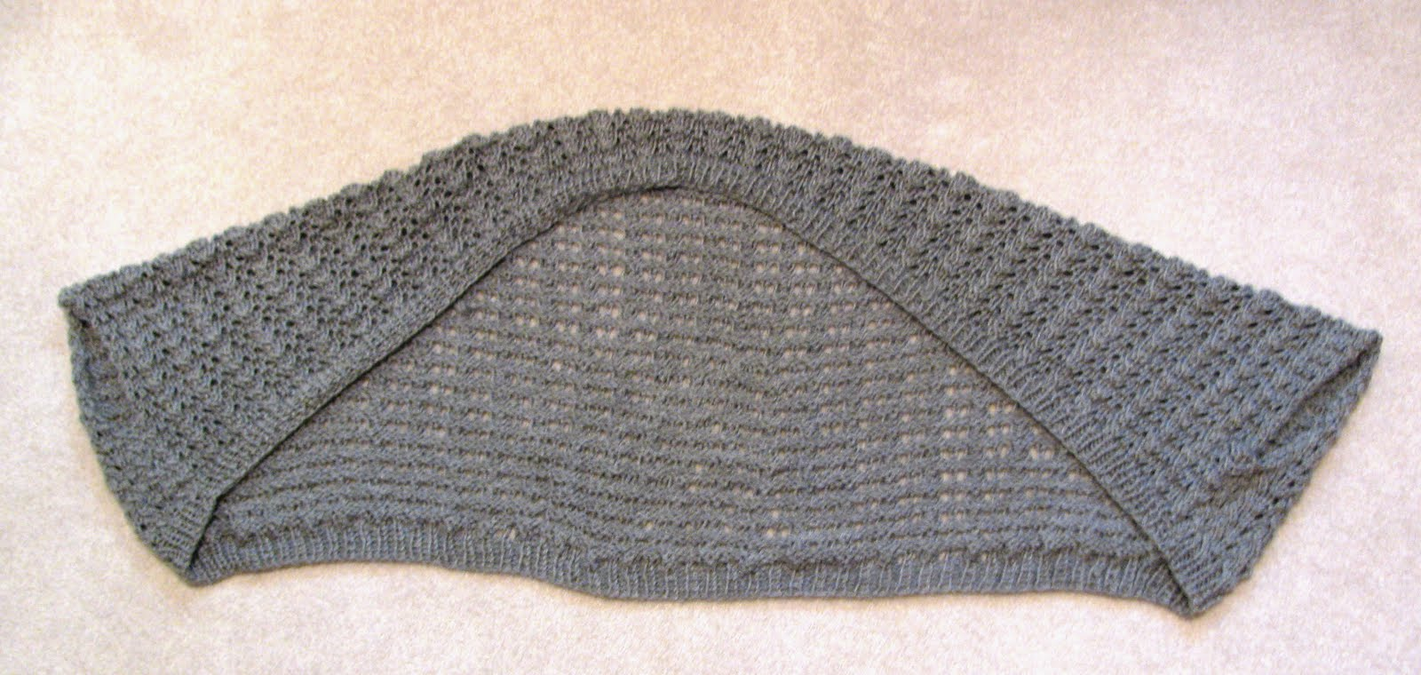 Knitting Yarn Over Continental Style : Yarn over knit together mockingbird shrug