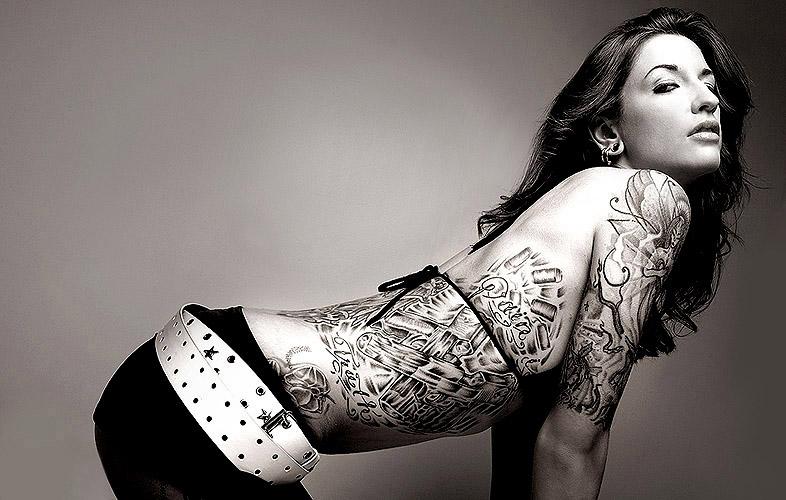 Various Woman Rib Tattoos