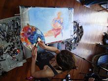 Pintando a Denisse