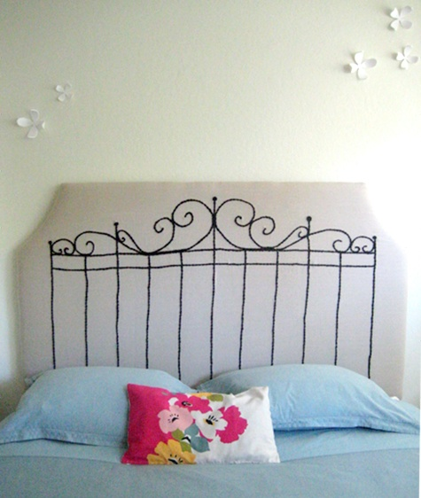 This and that creative blog make your own upholstered How to make your own headboard