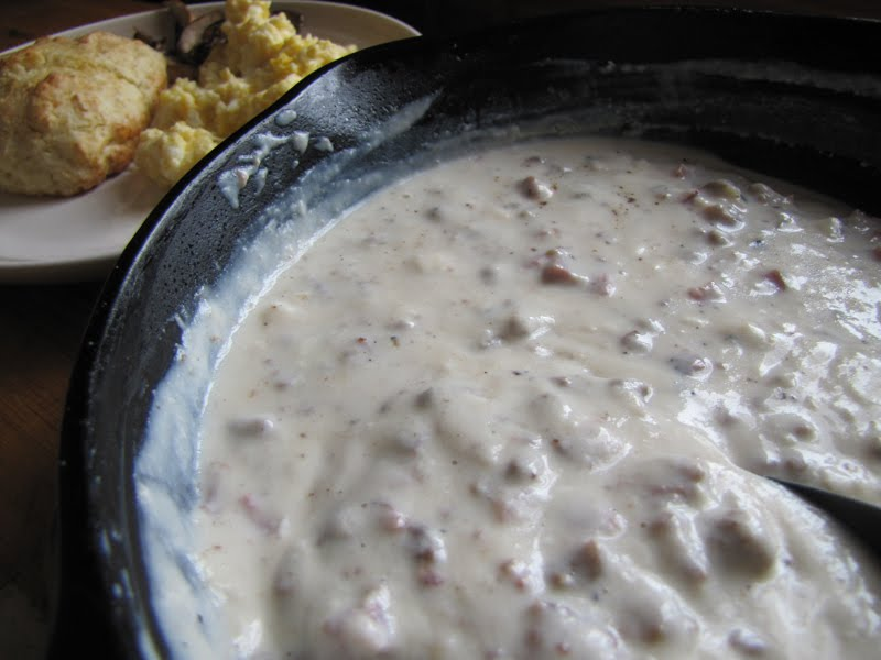 Biscuits And Gravy Eggs Sausage Sausage gravy on eggs,