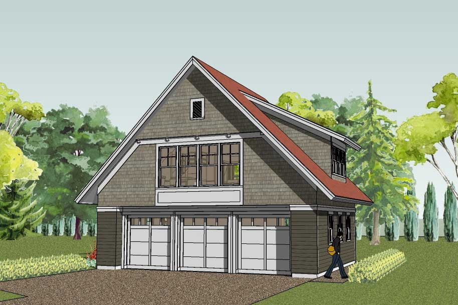 Simply elegant home designs blog another new garage for Plans for 3 car garage with apartment above