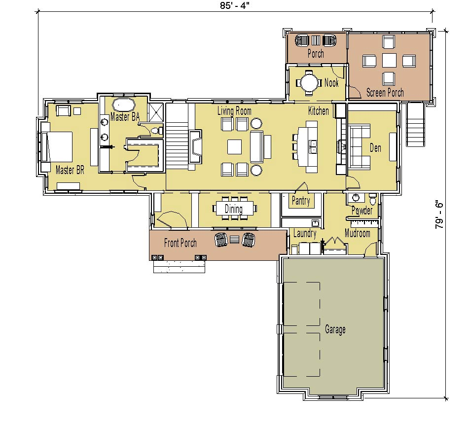 Simply elegant home designs blog january 2011 for Ranch floor plans with basement