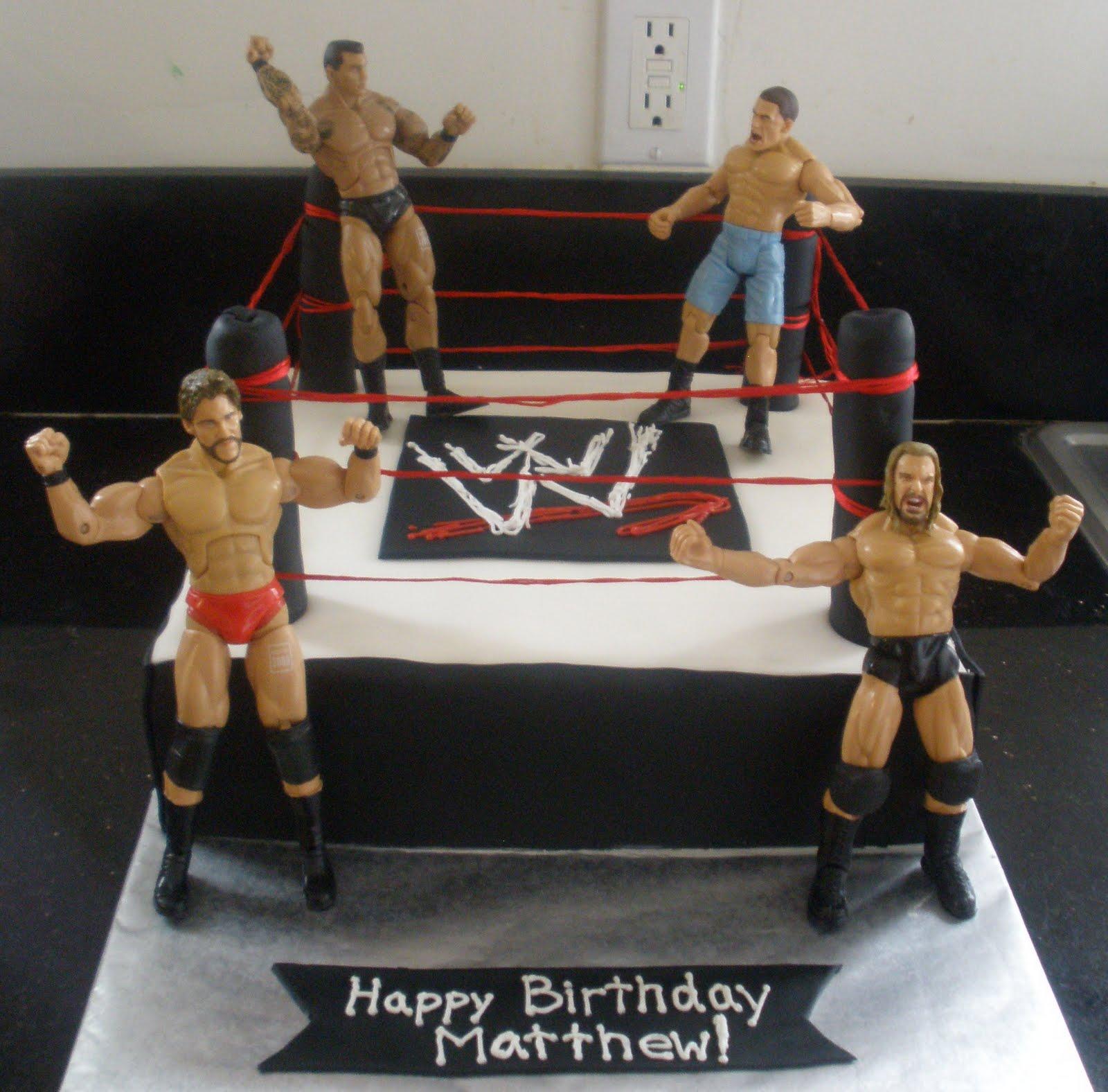 Wrestlemania Birthday Cakes