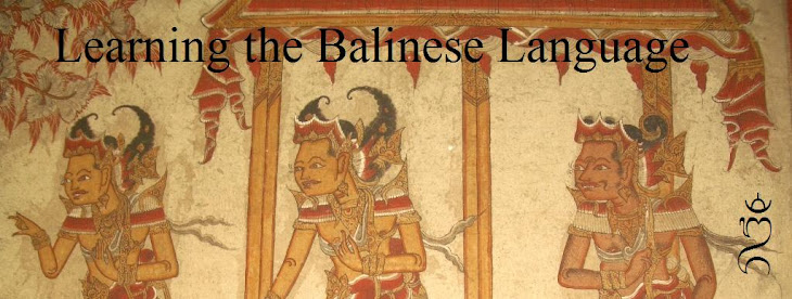 Learning the Balinese Language