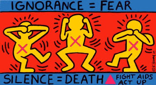 Keith Haring American Painter Ignorance = Fear Silence = Death