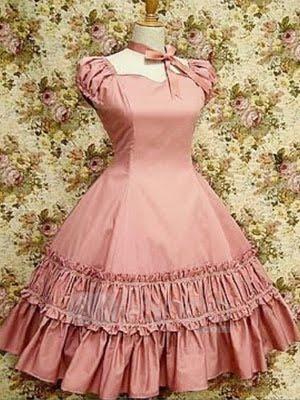 soy toda una newbie en esto, en buskeda de una luz u//u Pink-Puff-Sleeves-Ruffled-Cotton-Lolita-Dress-27040-1