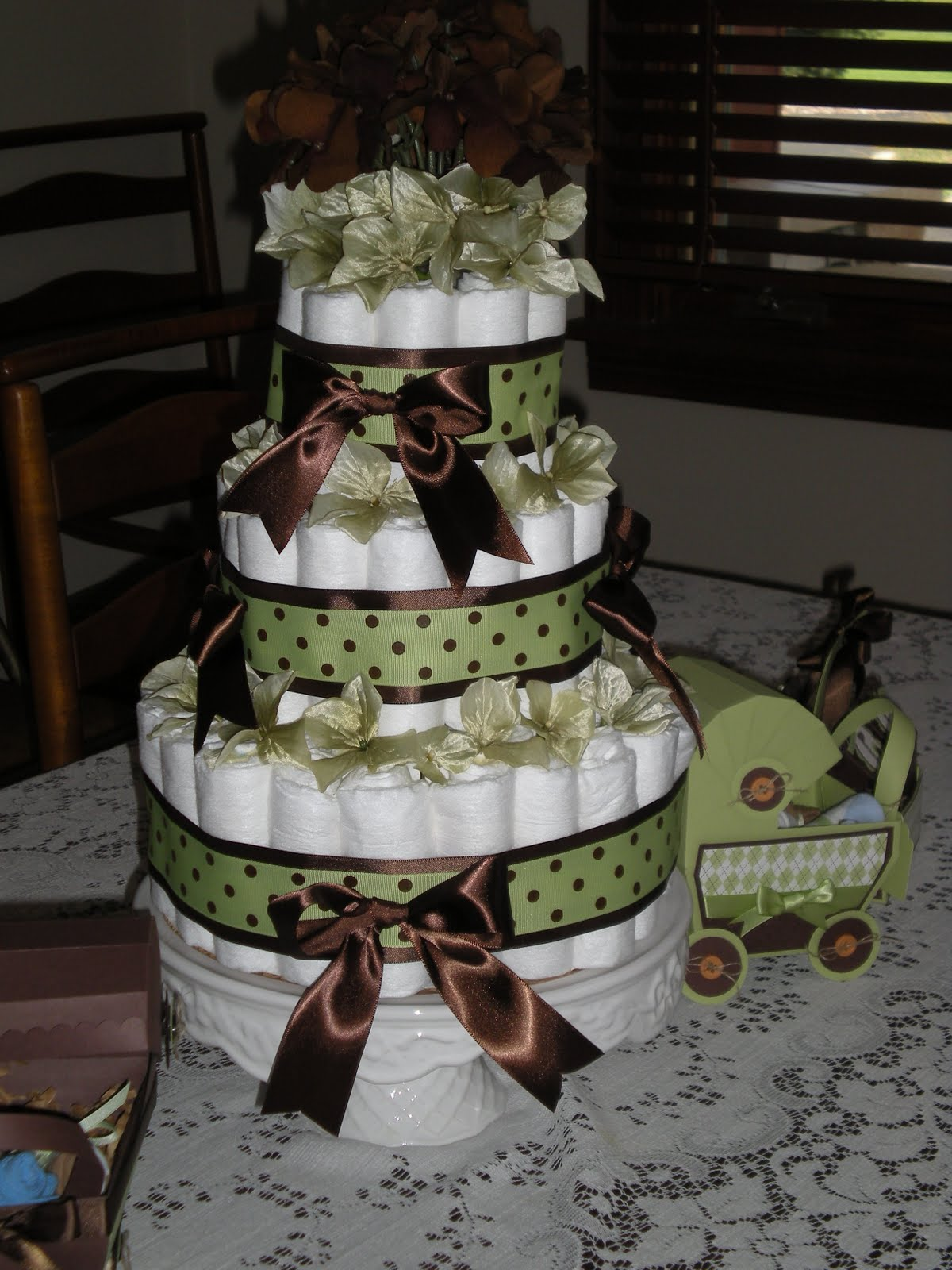 Diaper Cake Decorations : Narrowroad stamping: Baby Shower decorations