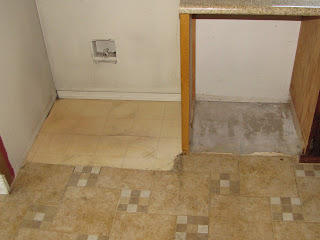Linoleum under tile