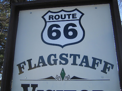 Flagstaff visitors center welcome sign