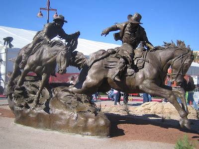 Passing the Legacy statue at Scottsdale Waterfront commemorating the Hashknife Pony Express