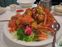 Szechwan - fried lobster w/ garlic