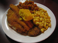5395 West Soul Food Place - Catfish w/ Mac and Cheese and Candied Yams