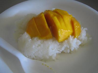 Bell's mango w/ sticky rice