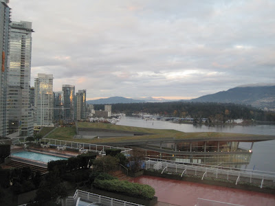 View of Stanley Park from the Pan Pacific Hotel