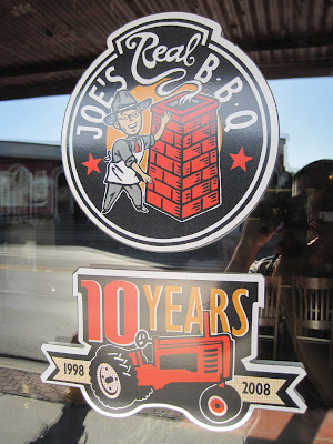Joe's Real BBQ - door graphic