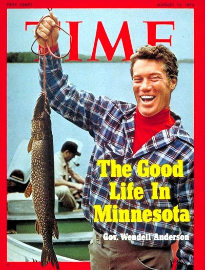 Former MN Gov. Wendell Anderson poses for a TIME magazine cover shot