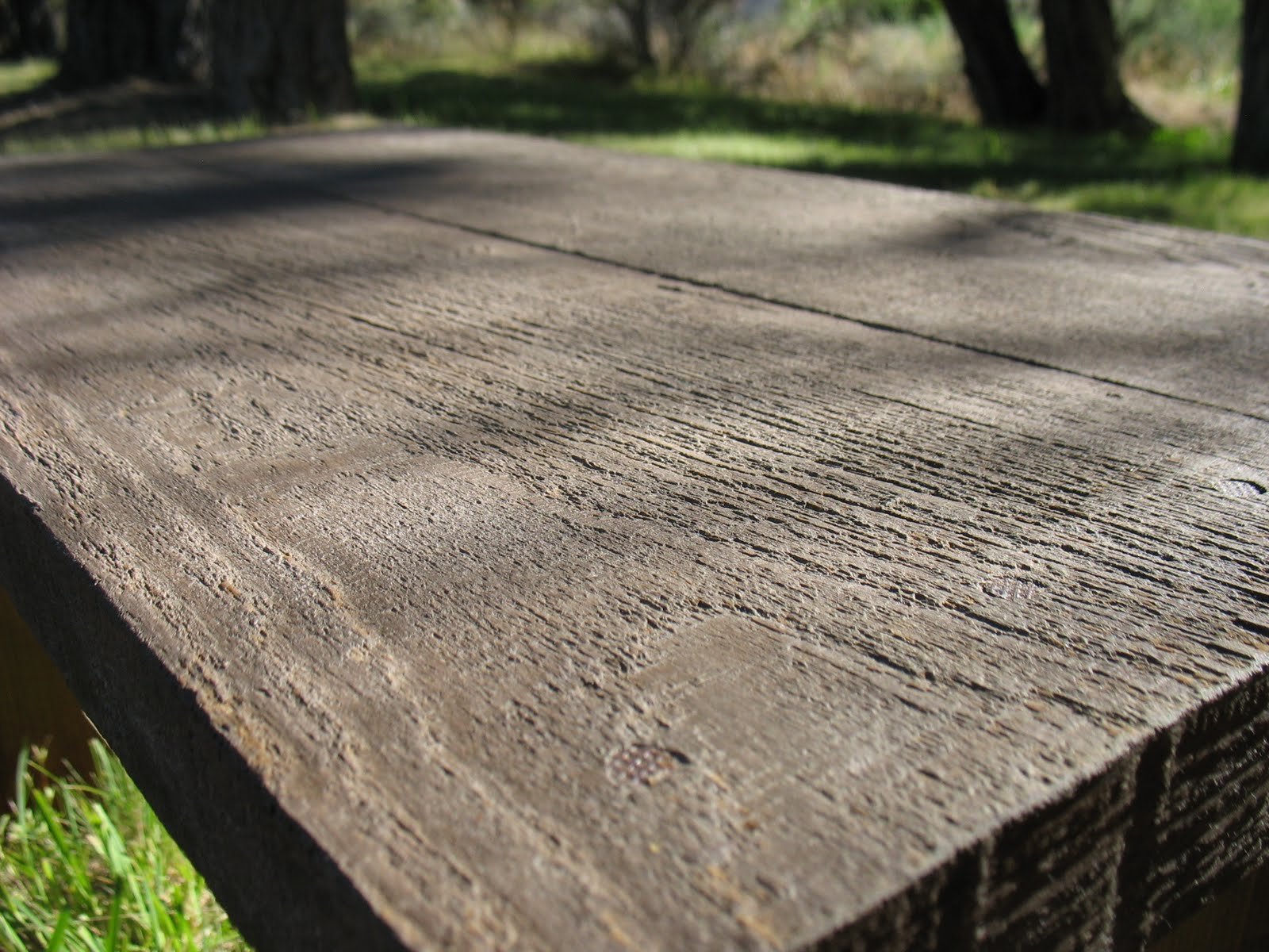 Lost In Desert Designs Concrete Quot Barn Wood Quot Looking Bench