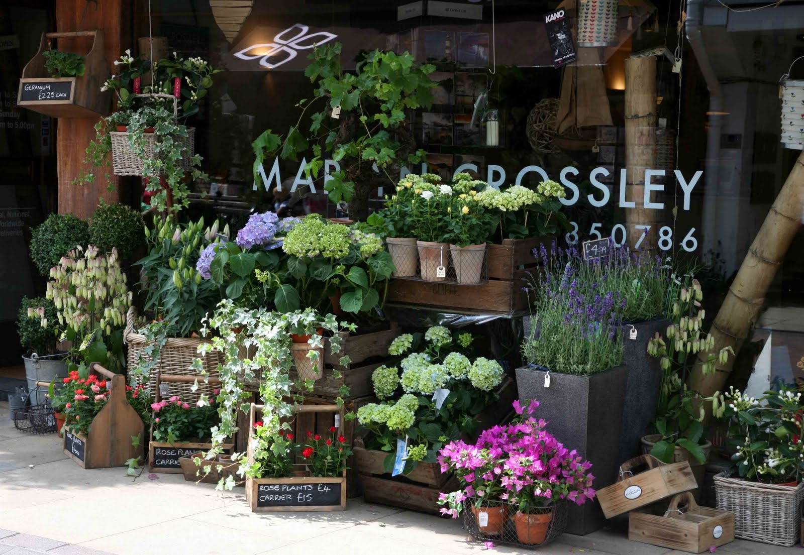 how to work in a flower shop