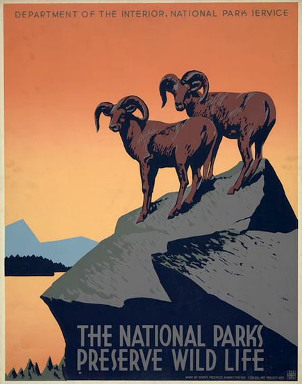 This vintage poster from the late 1930s is but one example