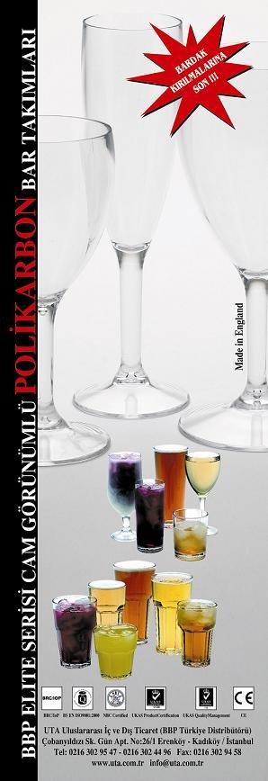 Cam Görünümlü Polikarbon Bar Takımları