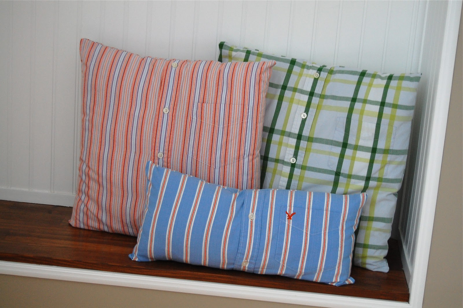 How To Make A Throw Pillow Out Of An Old T Shirt : These will make a great addition to my son s big boy room someday. That is if we ever let him ...