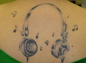 Headphones Tattoo