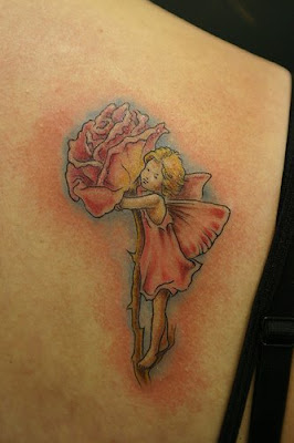 rose fairie tattoo