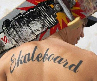 Skateboard tattoo