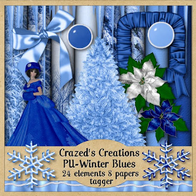 http://crazedscreations.blogspot.com/2009/12/freebie-winter-blues-kit.html