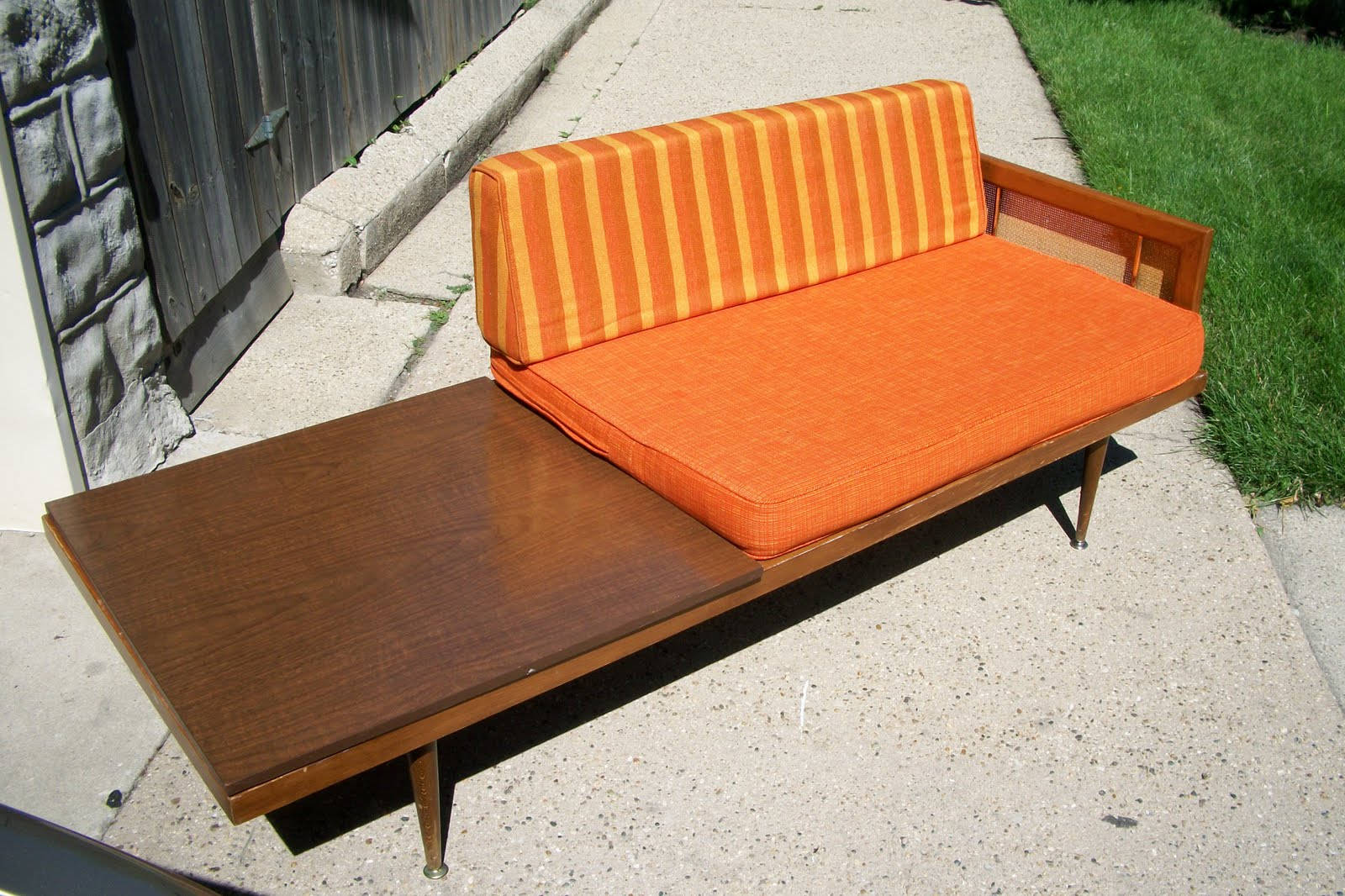An Orange Moon Uber Modern Sofa Table Ensemble