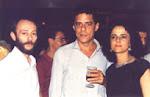 Com o cantor Chico Buarque e a atriz Marieta Severo