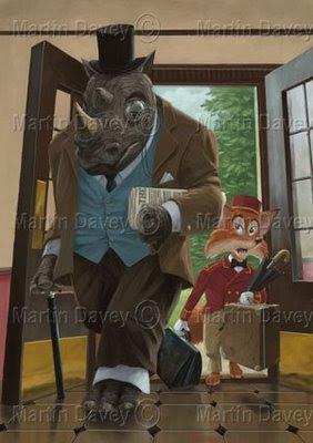 painting hotel porter edwardian rhino fox