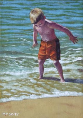 OIL_painting_boy_bournemouth_beach