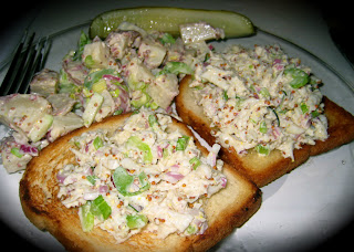 crab and potato salad