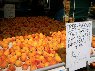 peaches at greenmarket