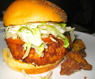 chicken burger at The Stand