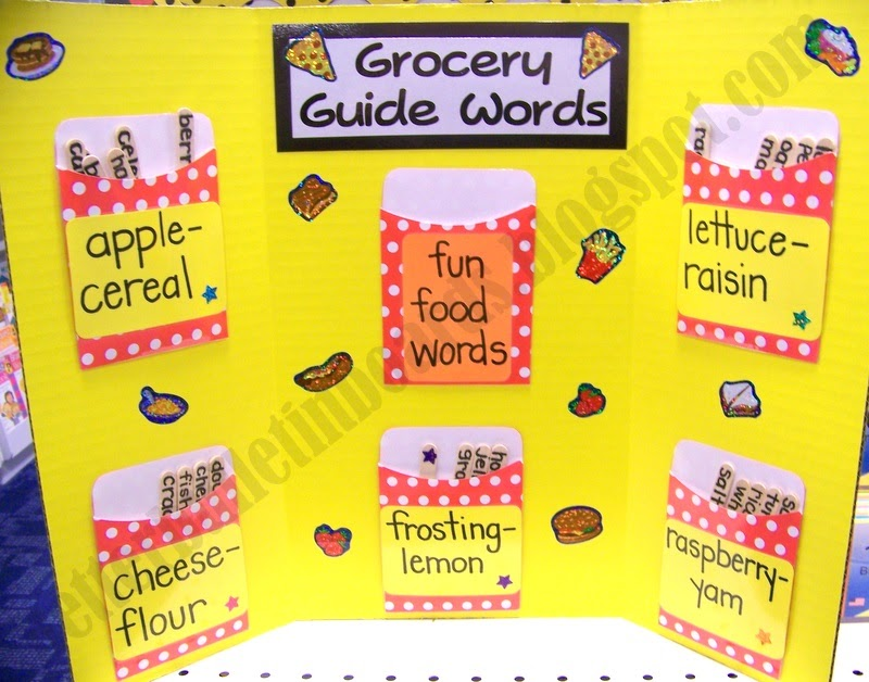 Better Bulletin Boards Grocery Guide Words