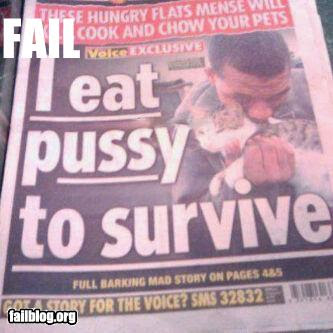eat pussy to survive