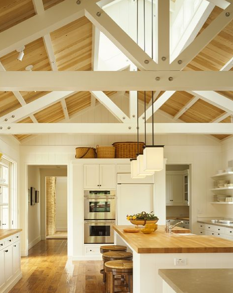 Farmhouse Kitchen with Exposed Beams 472 x 593