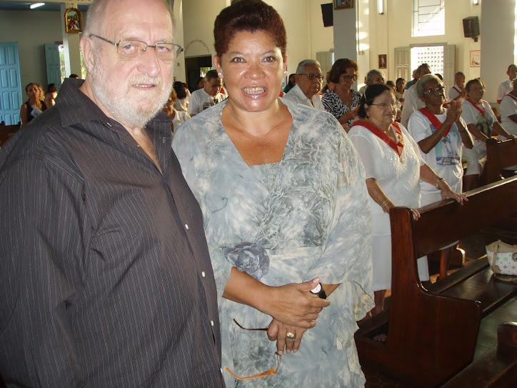 No DIA DO MEU ANIVERSARIO, 49 anos, 05 de agosto, estivemos em uma celebração catolica