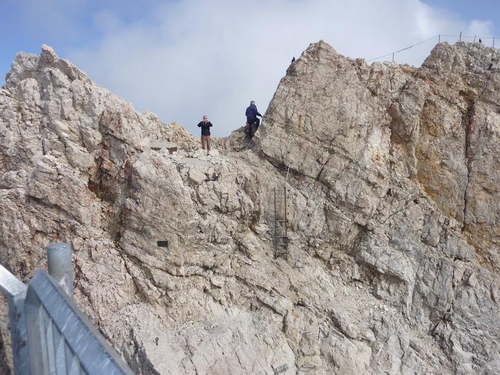 Estive no MONTE ZUGZPITZE, na fronteira da Alemanha com Austria, 2.962 metros de altitude