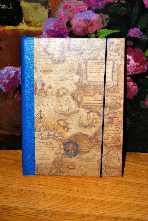 Agenda anual. Papel mapas antiguos
