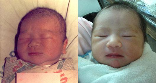 birth pics comparison... andres vs. olivia