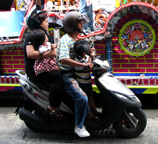 kids riding without helmets