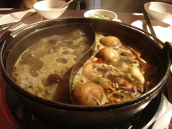lunch at black cattle spicy hotpot
