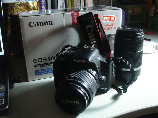 new toy - canon 500d double lenses kit
