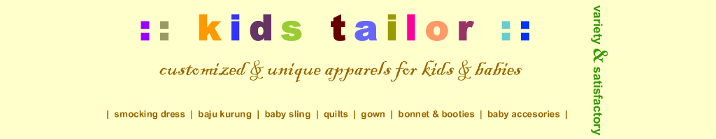 kids tailor: hand-made craft & unique apparels customized for kids & babies